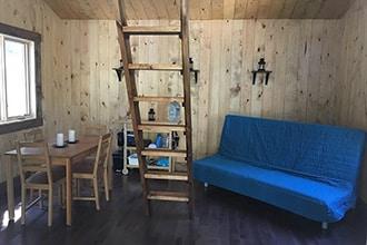 salon refuge aventure Amisk lac taureau