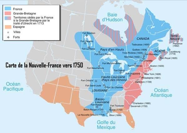 carte nouvelle-france 1750