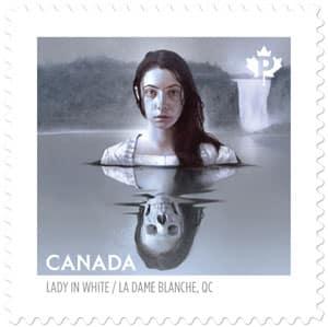 timbre legende dame blanche