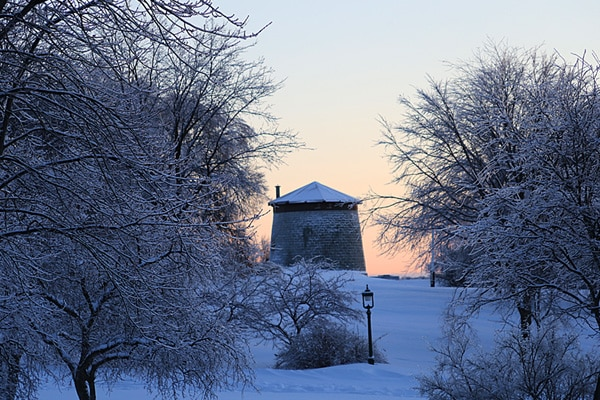 tour martello en hiver
