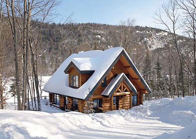 Chalet en bois rond canada