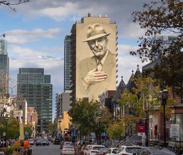 murale leonard cohen