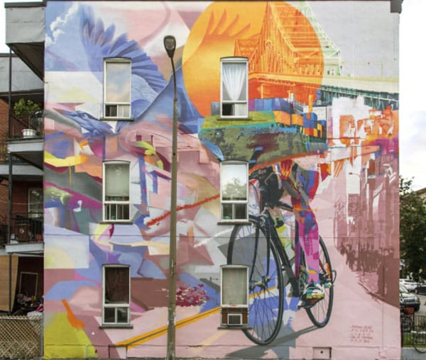 Murale le cycliste d'hochelaga