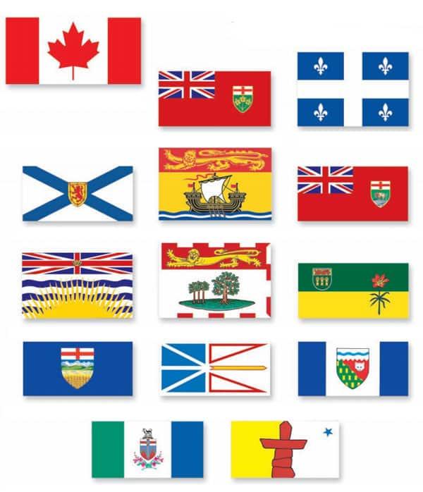 drapeau province du canada