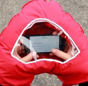 Gant pour smartphone
