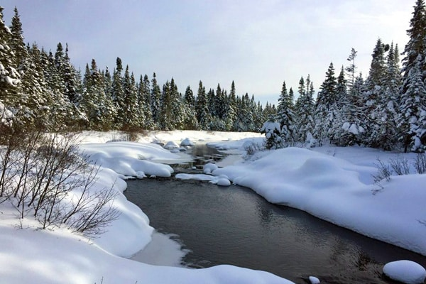 riviere hiver quebec