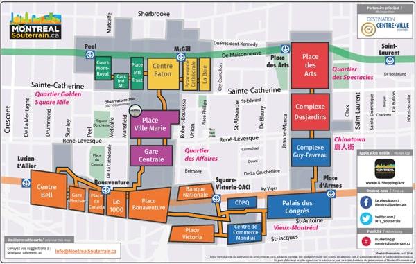 plan montreal souterrain